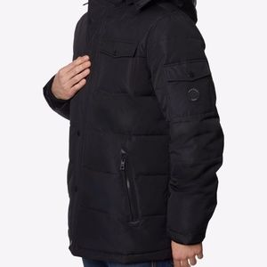 Nautica Men's Commuter Heavy Duty Black Puffer Jacket Quilted Parka Size XL